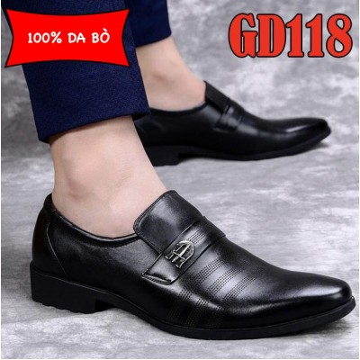 Giày công sở 100% da bò cao cấp trẻ trung, BH 1 năm GD118