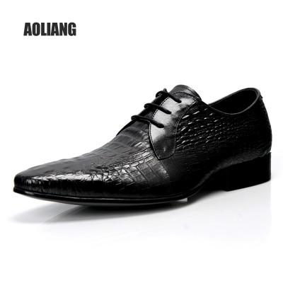 Giày da kinh doanh vân cá sấu GD262