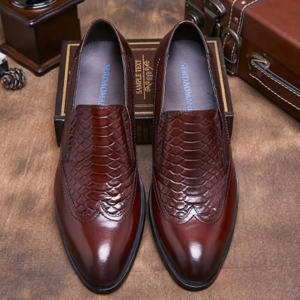 Giày da cao cấp kinh doanh vân cá sấu GD290