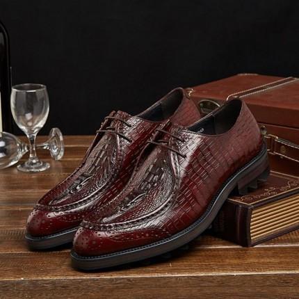 Giày da quý ông kinh doanh cao cấp vân cá sấu GD307