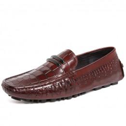 giầy lười vân cá sấu trẻ trung GD495