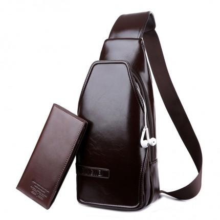 Túi đeo chéo 100% da bò chính hãng TD60