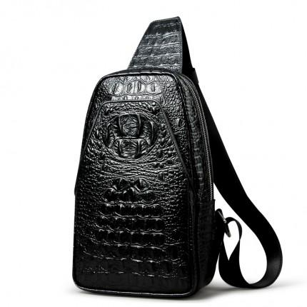 Túi đeo chéo da bò vân cá sấu cao cấp mới TL59