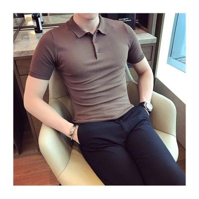 Áo thun dệt kim cao cấp 1 màu SM018