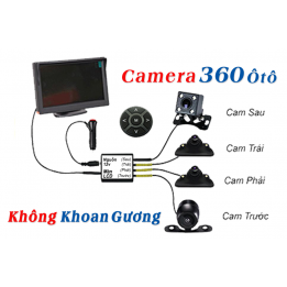 Camera 360 full 4 mắt camera siêu nét, camera trái, camera phải, camera trước, camera sau - Labaha